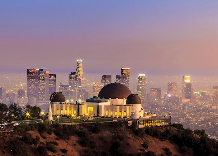 The Griffith Observatory and Los Angeles city skyline