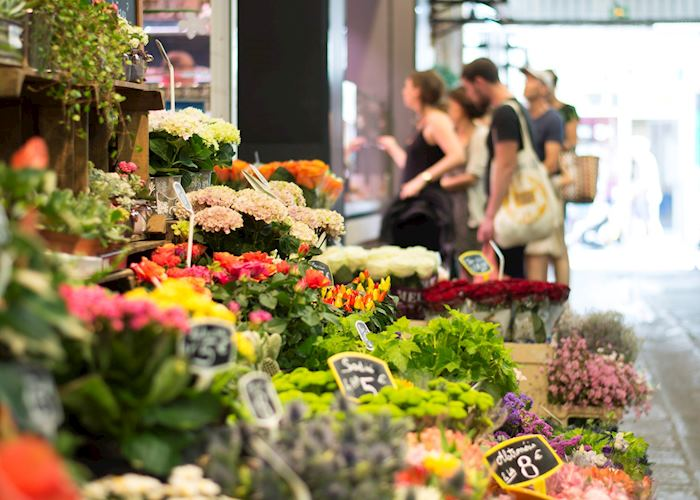 Flowers at market, France