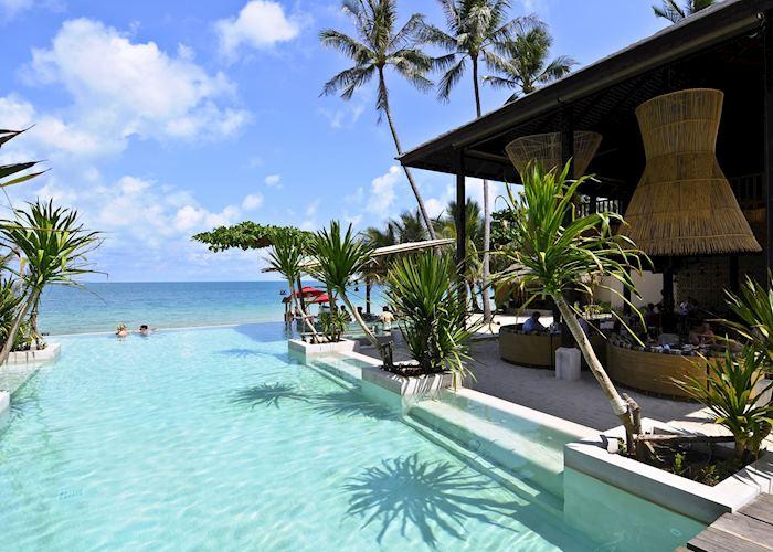 Infinity pool, Anantara Rasananda Resort, Koh Phangan
