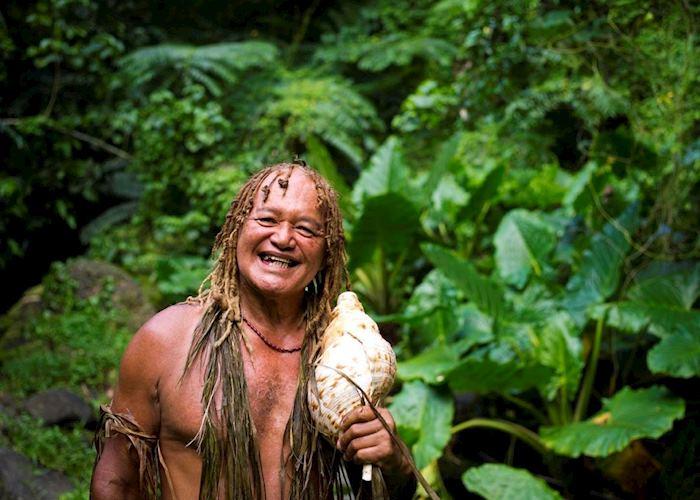 Walking with Pa, Rarotonga, Cook Islands