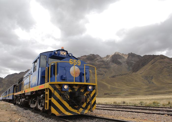 The Andean Explorer Train at it's Highest Altitude in the Andes