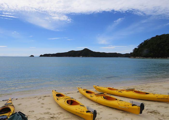 Kayaks at Abel Tasman