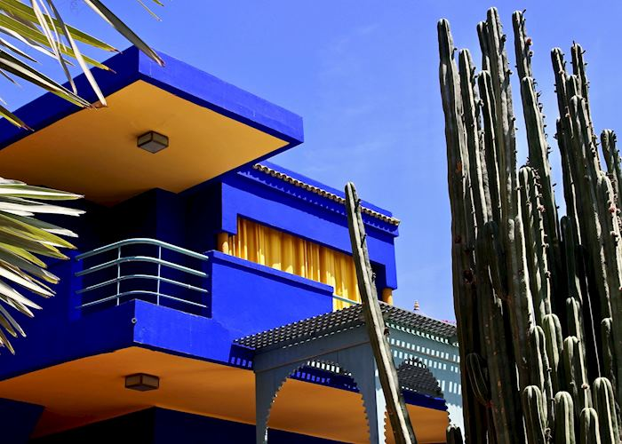 Vibrant Berber museum at the Majorelle gardens