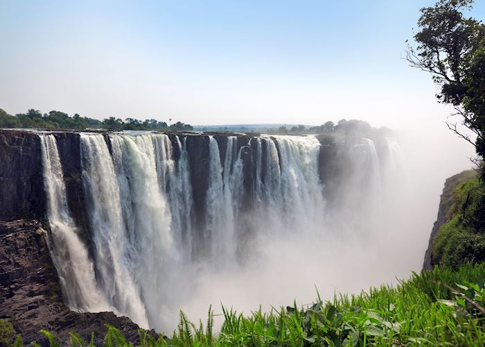 The thundering water of Victoria Falls