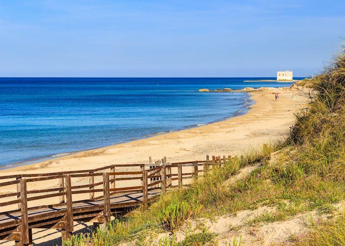 Coast line in Fasano, Puglia