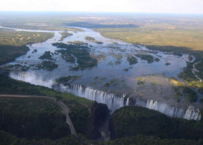 Birdseye view of Victoria Falls