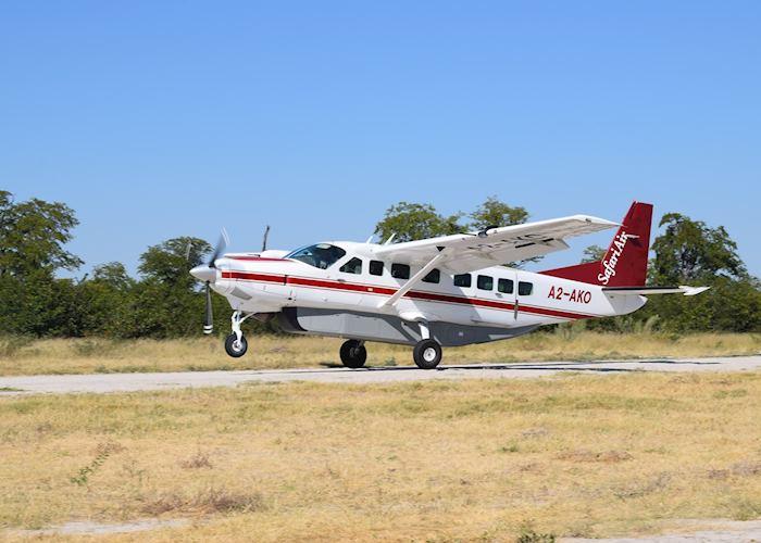 Light aircraft flight in the Okavango Delta