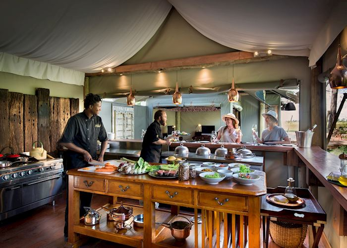 Chef's kitchen at Duba Plains