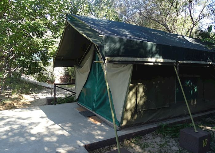 Safari tent at Mahangu Safari Lodge