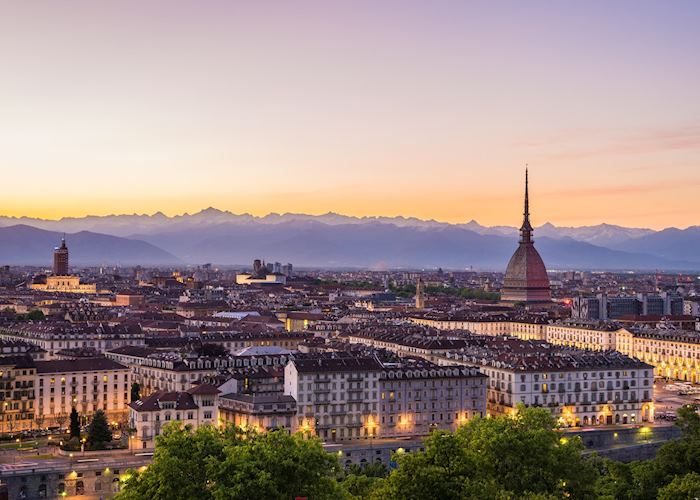 Turin skyline, Piedmont