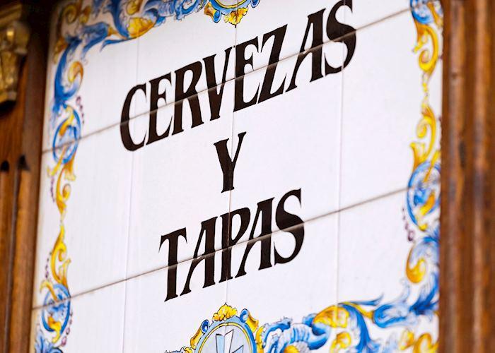 Tiled tapas sign, Spain