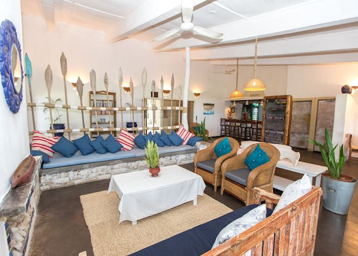 Nautical themes in the lounge at Chintheche