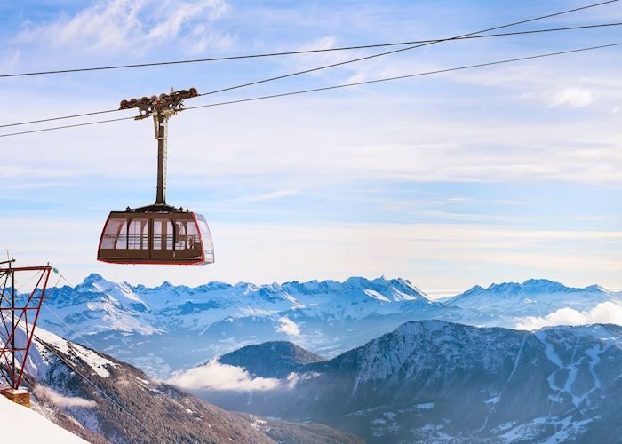 Cable car to the summit of Aiguille du Midi, Chamonix