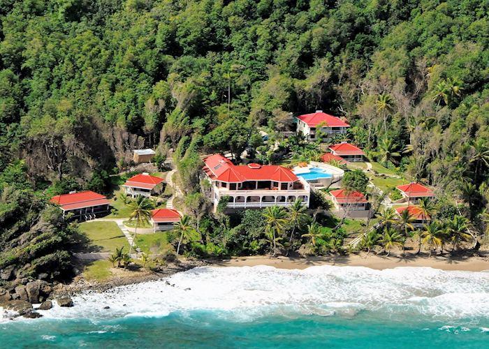 Aerial view, Petite Anse, Grenada