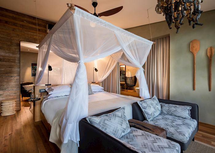 Bedroom at Bumi Hills lodge