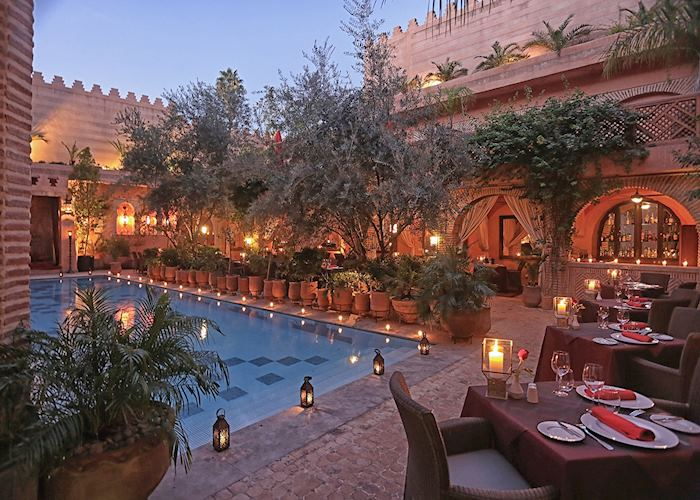 Restaurant at La Maison Arabe, Marrakesh