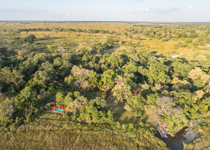 Camp Moremi from above