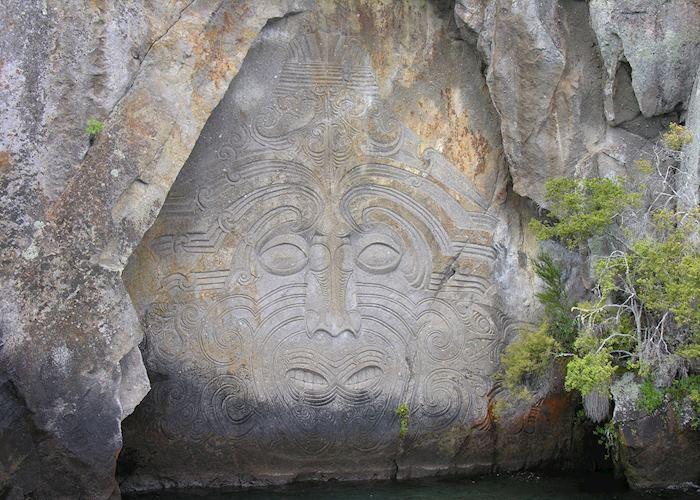 Maori rock carvings, Lake Taupo
