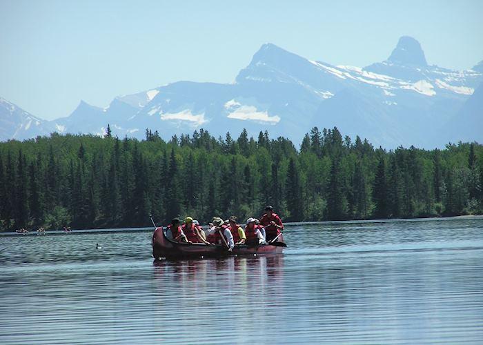 Voyageur Canoe, Jasper National Park