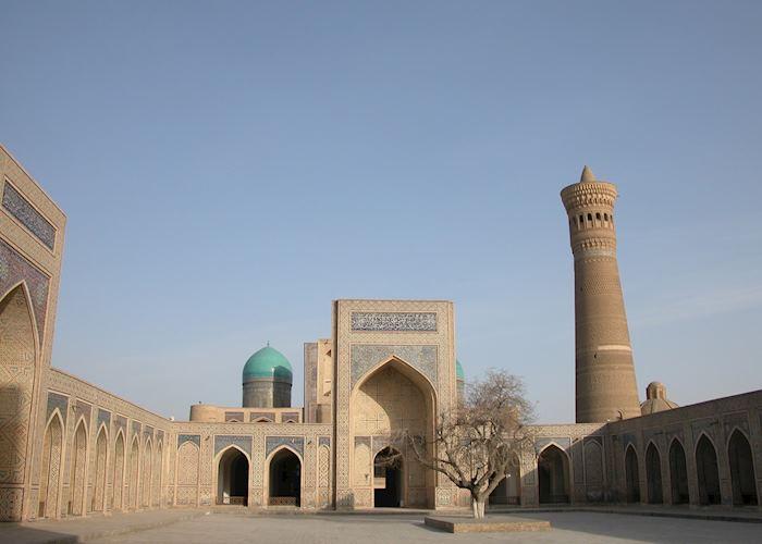 The Kalon Minaret from inside the Kalon Mosque