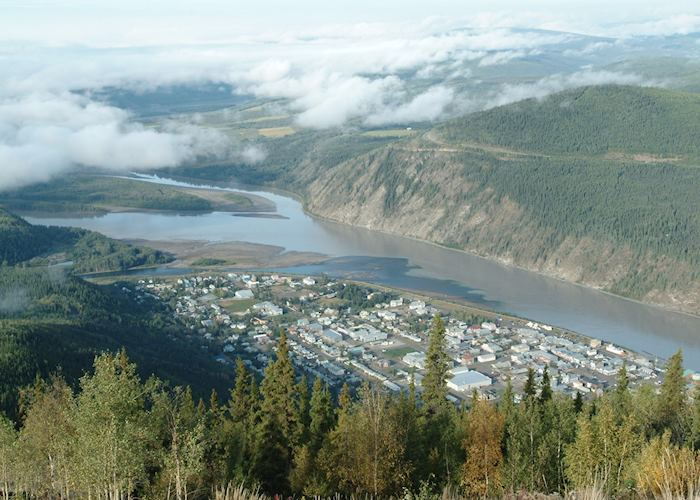 Aerial view of Dawson City