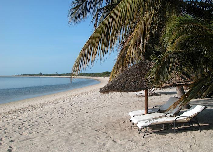 The beach at Bazaruto Lodge