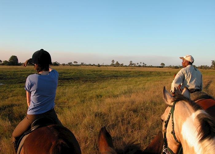 Riding safari from Macatoo Camp, Abu Concession