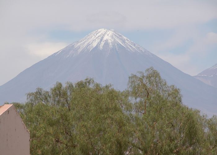 Volcano Licancabur from San Pedro de Atacama