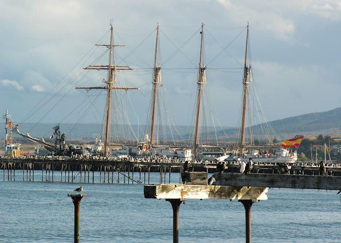 Dock at Punta Arenas, Chile