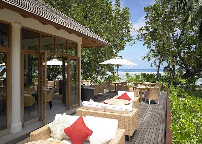 The restaurant at Hilton Labriz, Silhouette Island