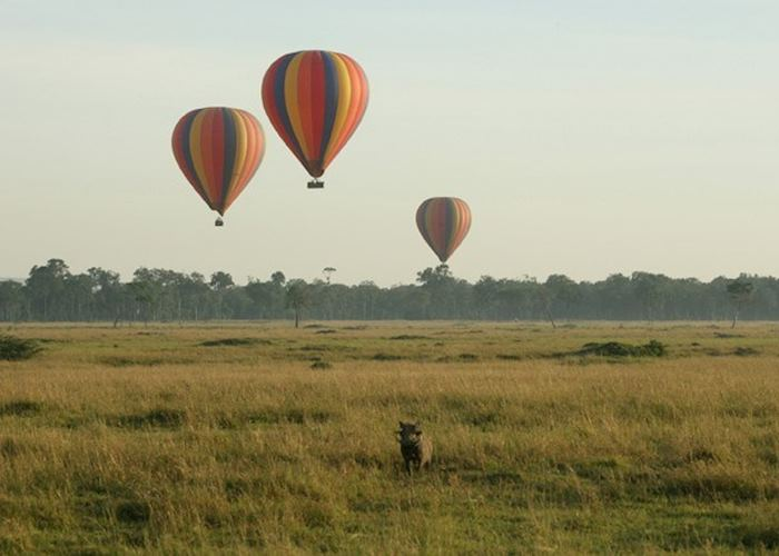 Hot air ballooning from Little Governors Camp in the Masai Mara
