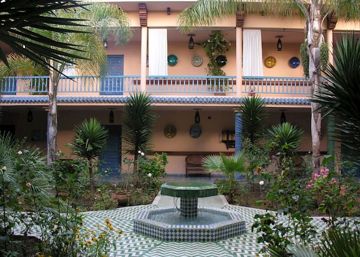 Courtyard at Villa Mandarine