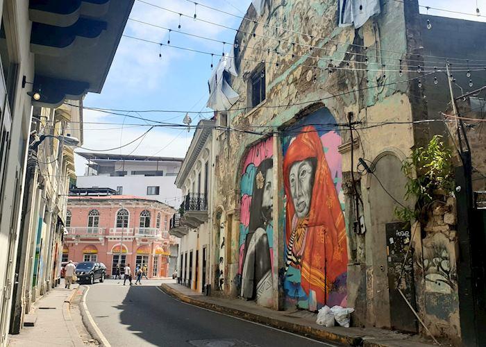 Street art in the Casco Viejo, Panama City