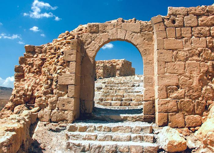 Shattered the Gateway to Masada ruins