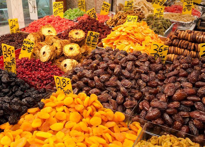Dried fruits at the Mahane Yehuda market