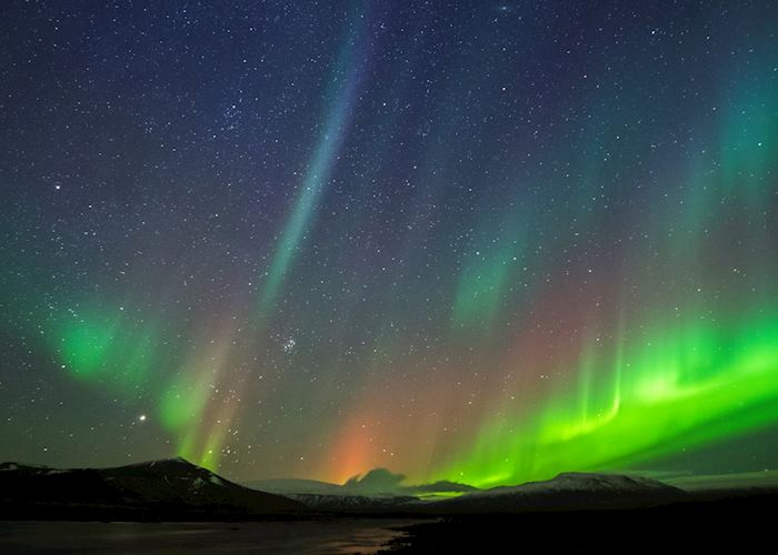 Northern lights in West Iceland