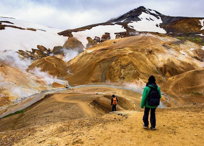 Hiking around Lake Mývatn