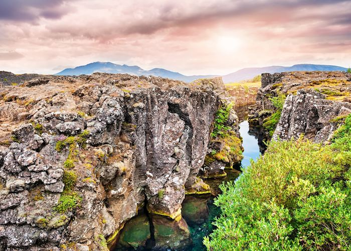 Silfra fissure in Þingvellir National Park, Golden Circle