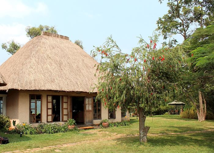 Main area at Ndali Lodge