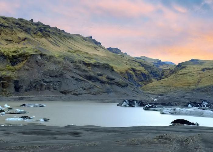 Sólheimajökull glacier lagoon