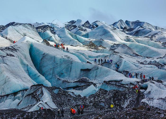 Glacier hiking on Sólheimajökull glacier