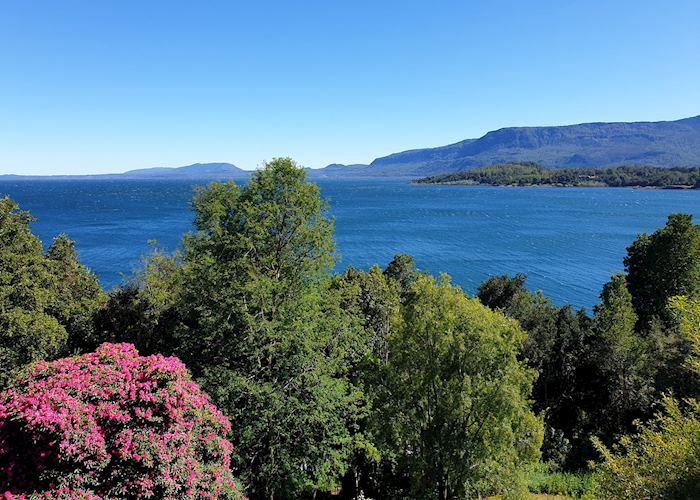 View of Villarica Lake from Antumalal