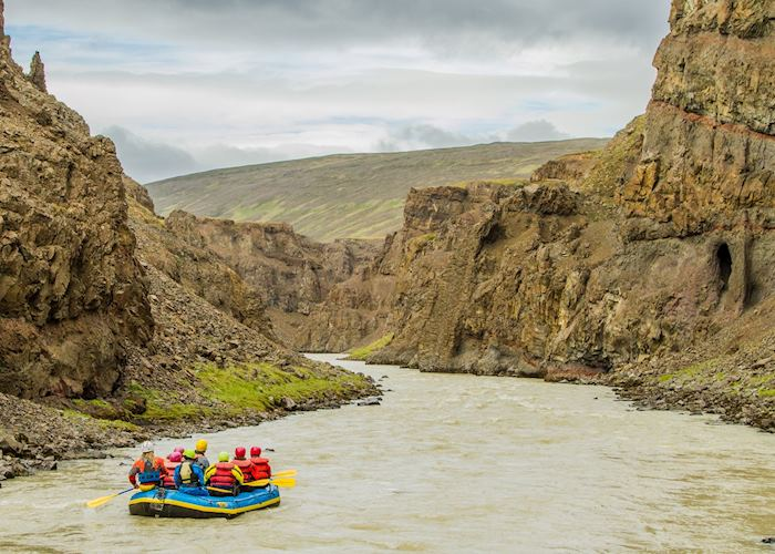 River rafting in north Iceland