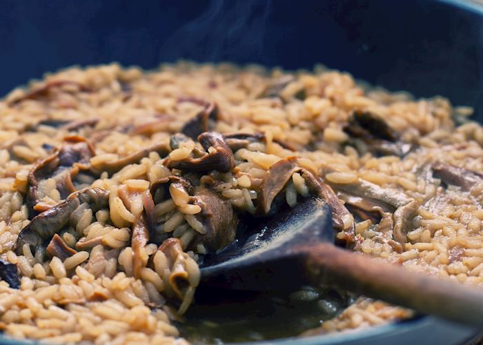 Freshly-made risotto