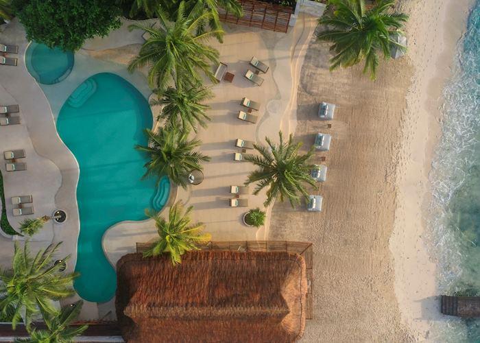 Pool and beach area, Viceroy Riviera Maya