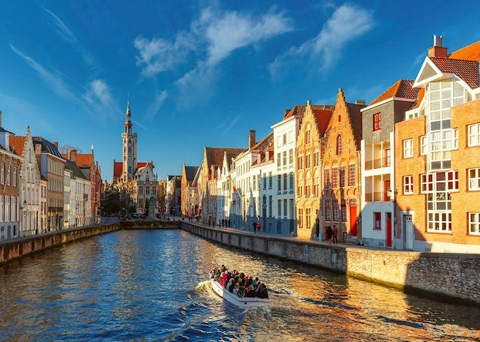Canal cruise in Bruges, Belgium