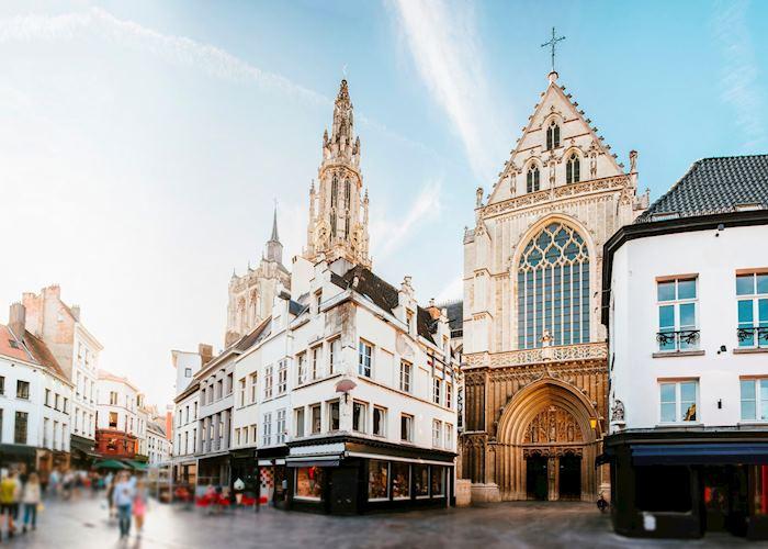 Pedestrian streets of Antwerp, Belgium