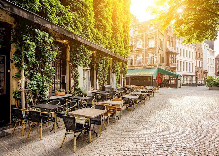 Sidewalk cafes of Antwerp, Belgium