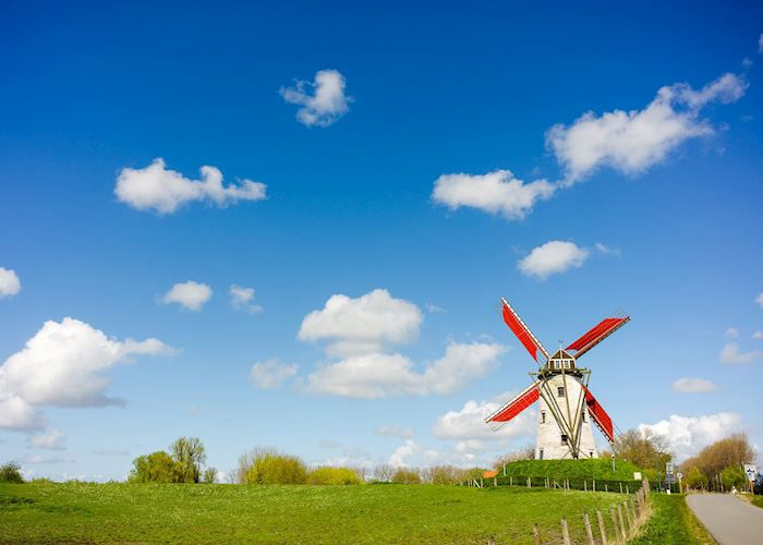 Windmill outside of Damme, Belgium