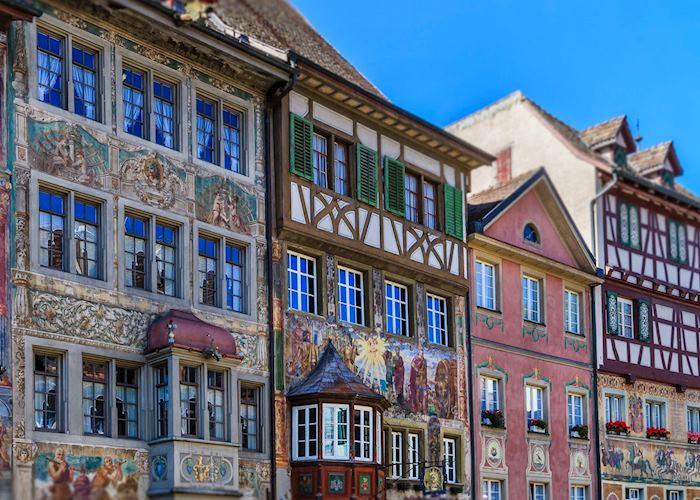 Painted facades of Stein am Rhein